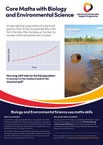 Core Maths poster - Biology and Environmental Science
