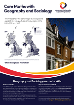 Core Maths poster - Geography and Sociology