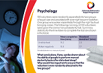 Core Maths postcard - Psychology