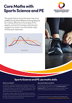 Core Maths poster - Sport Science and PE