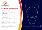 A level Mathematics postcard